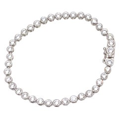 Faux Diamond Sterling Silver Tennis Bracelet
