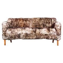 Faux Fur Sofa by Fritz Henningsen C.1950 Mid-Century Modern