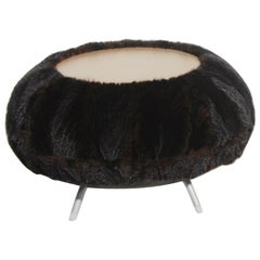 Faux Fur Table Stool by Allermuir