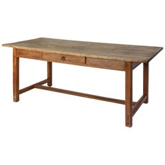 Faux-Grain Painted French Farm Table