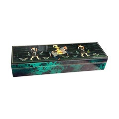 Faux Malachite Leather Decorative Indian Maharaja Box