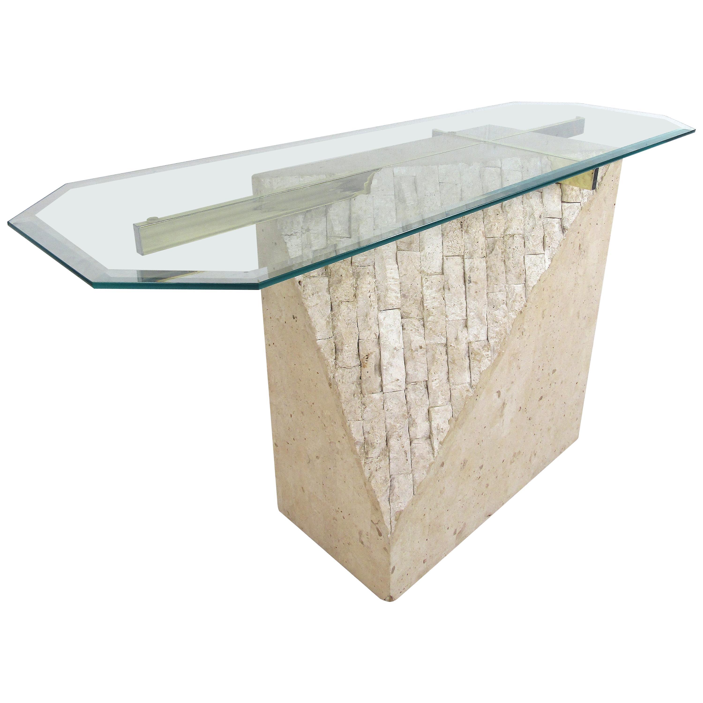 Faux-Marble Artedi Style Console Table
