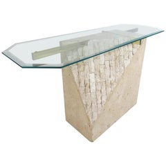 Faux-Marble Artedi Style Console Table