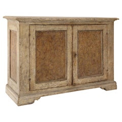 Faux Marble Paneled Italian Buffet Painted in Creamy White