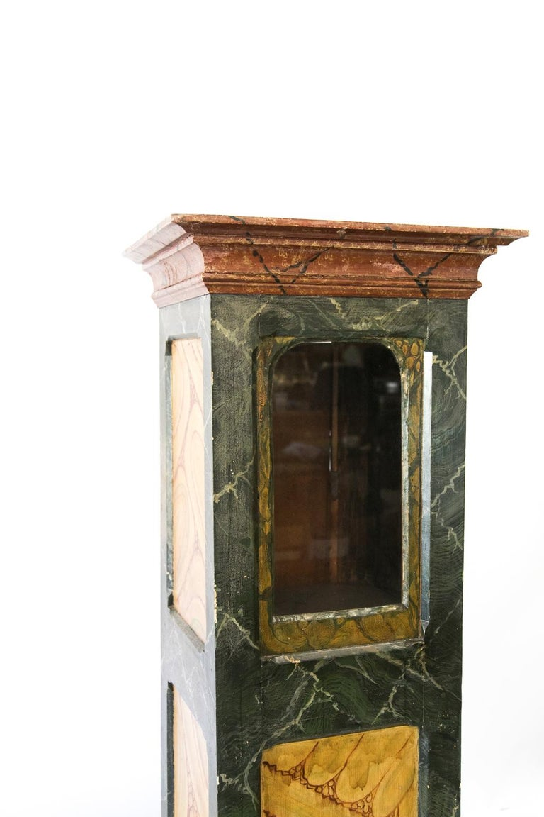 English Faux Painted Display Case/Cabinet For Sale