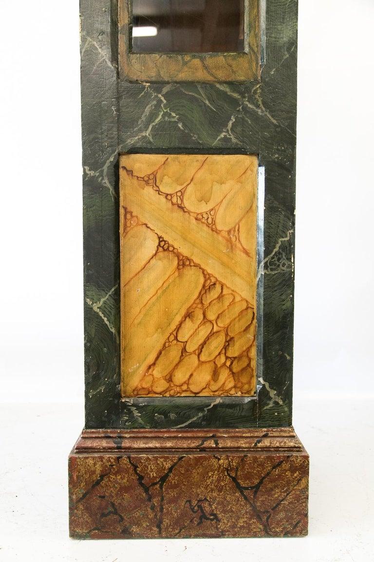 Faux Bois Faux Painted Display Case/Cabinet For Sale