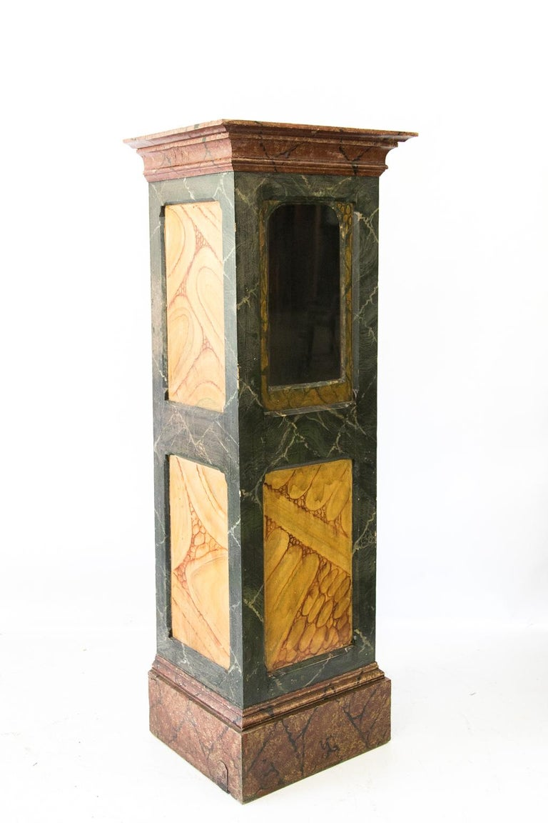 Late 19th Century Faux Painted Display Case/Cabinet For Sale