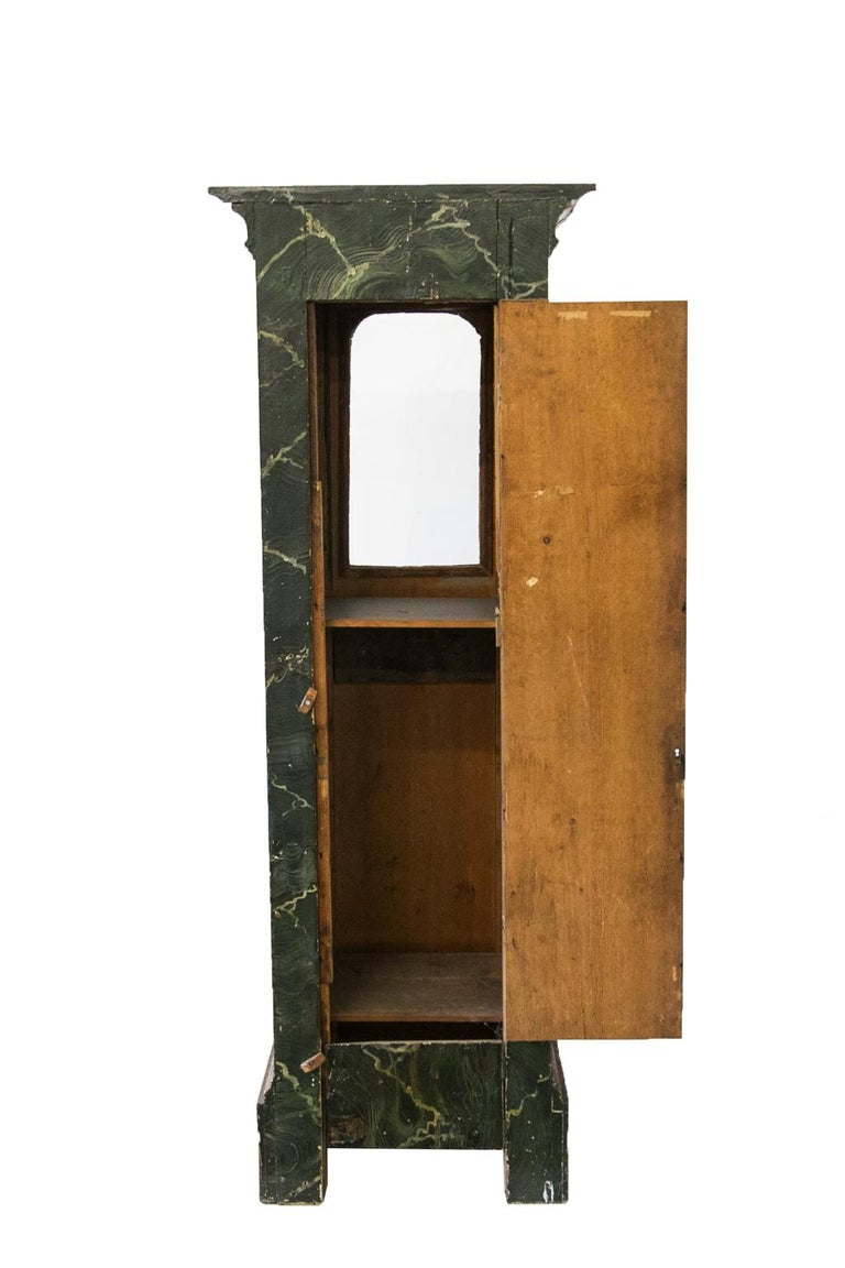 Glass Faux Painted Display Case/Cabinet For Sale