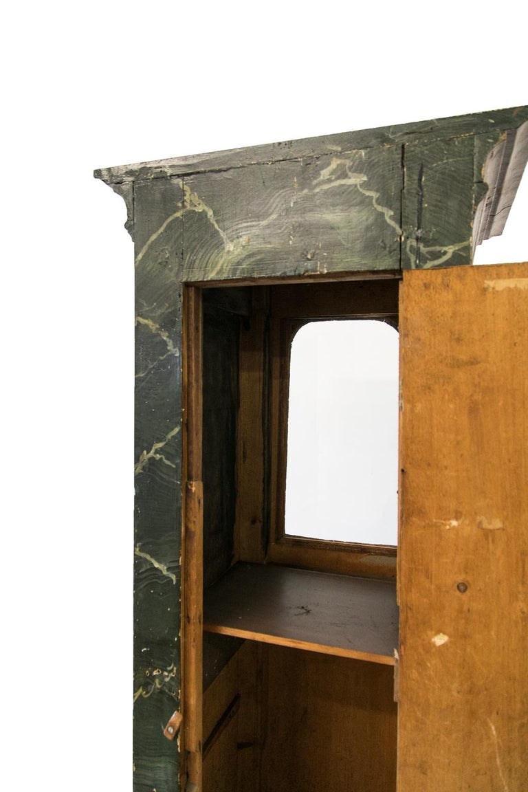 Faux Painted Display Case/Cabinet For Sale 1