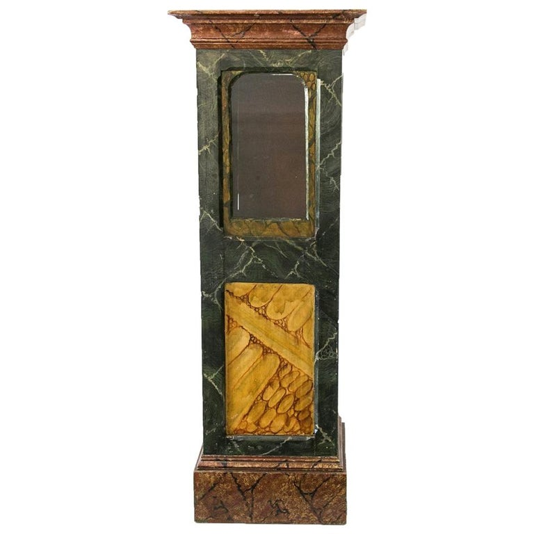 Faux Painted Display Case/Cabinet For Sale