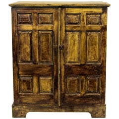 Faux Painted English Cupboard