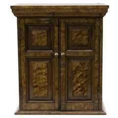Faux Painted English Miniature Cabinet