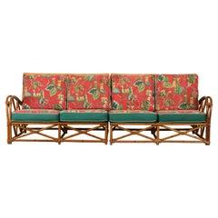 Faux Rattan Sofa by Heywood Wakefield, 1950s