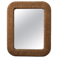 Faux Rope Wall Mirror