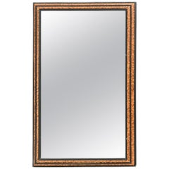 Faux Tortoise Regency Mirror with Black Detail