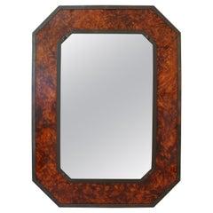 Faux Tortoiseshell and Bronze Mirror