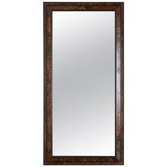 Faux Tortoiseshell and Ebony Dutch Baroque Style Mirror