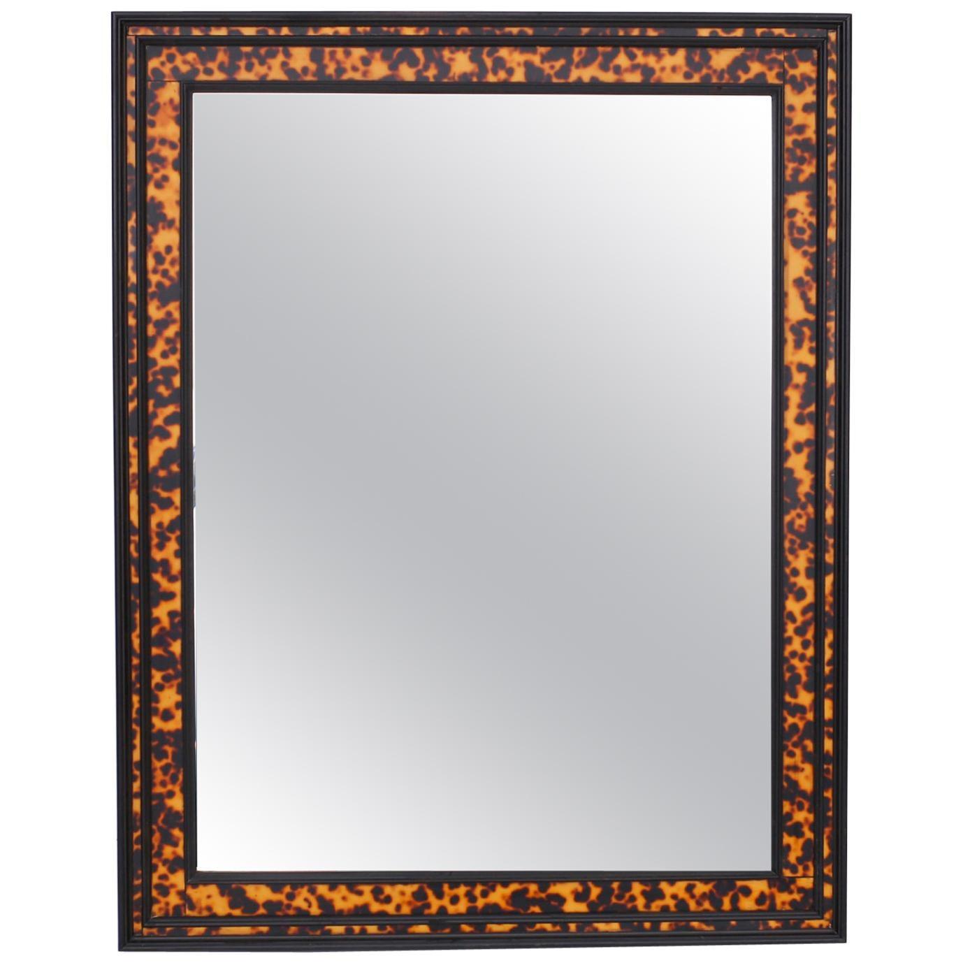 Faux Tortoiseshell Wall Mirror