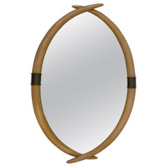 Faux Tusk and Brass Mirror by Chapman