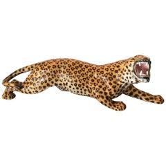 Favaro Cecchetto Leopard Ceramic 1940 Italy