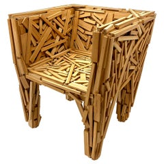 Favela Chair in Teak Wood by Fernando & Humberto Campana and Edra