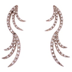 Favero Diamond Drop 18 Karat White Gold Earrings