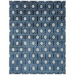 Favo Rug Modern Design Bamboo Silk