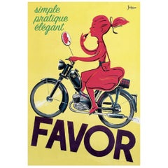 """FAVOR"" Scooter Girl by Bellenger Poster"