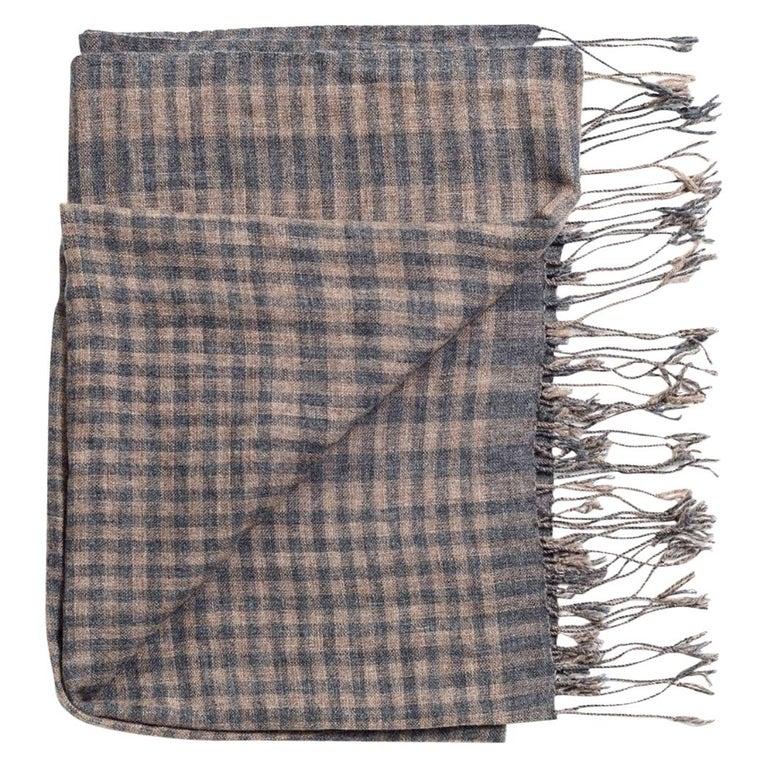 Fawn Handloom Merino Scarf / Shawl For Sale