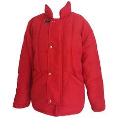 Fay red bomber jacket