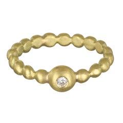 Faye Kim 18 Karat Diamond Bead Stack Ring