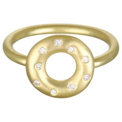 Faye Kim 18 Karat Gold and Diamond Lifesaver Ring