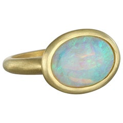 Faye Kim 18 Karat Gold Australian Crystal Opal Ring