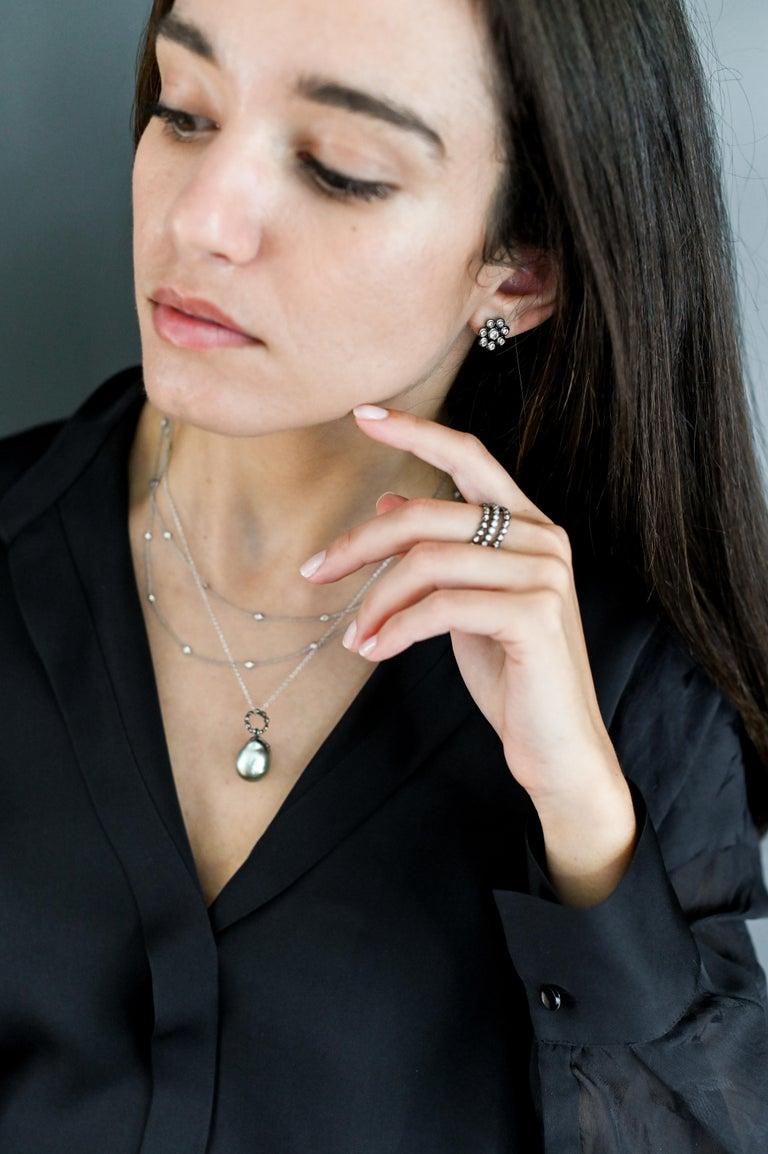 Faye Kim 18 Karat Gold Black Rhodium Diamond Eternity Band In New Condition For Sale In Westport, CT