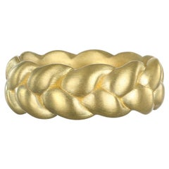 Faye Kim 18 Karat Gold Braided Stack Ring
