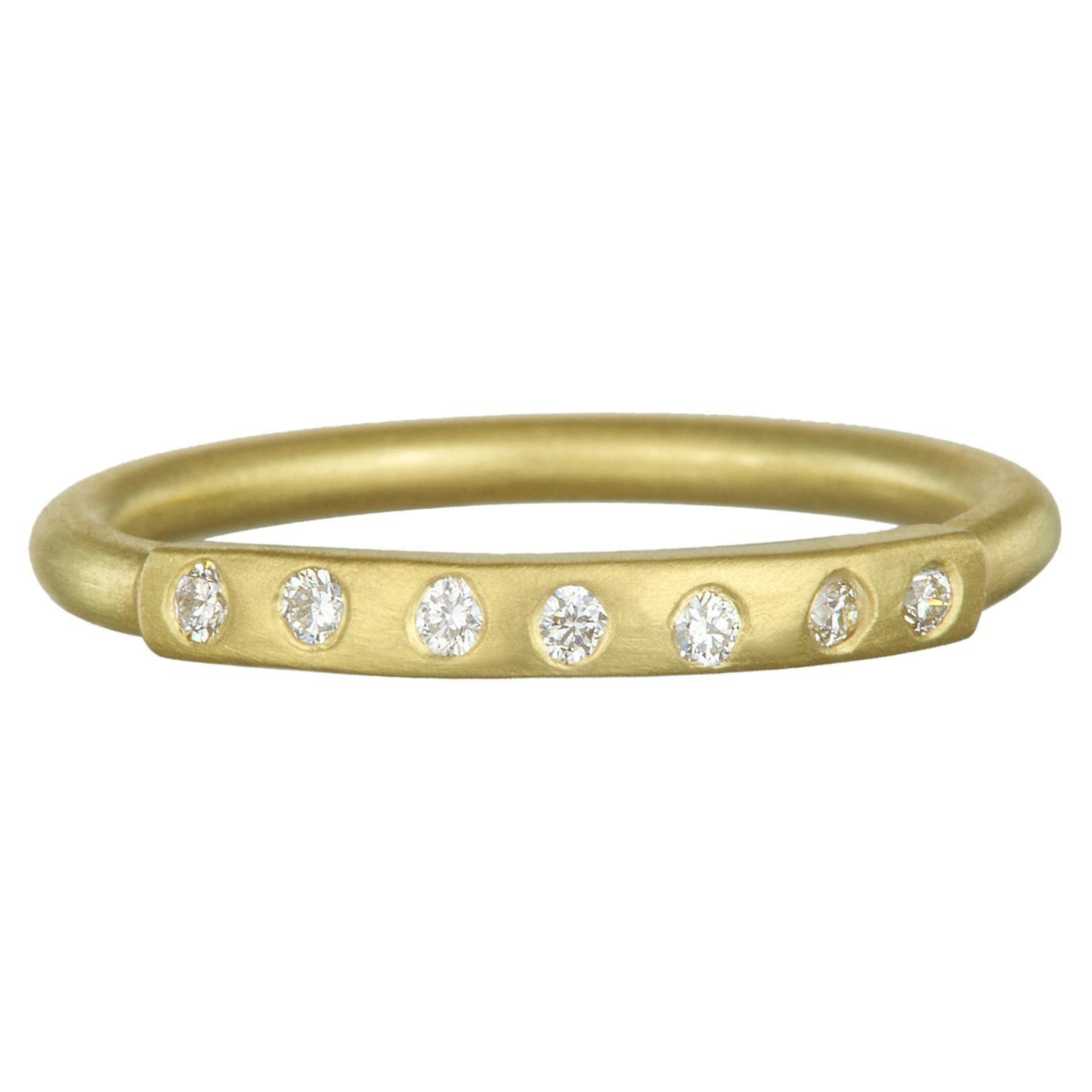 2f0c5264a7e7a Faye Kim 18 Karat Gold Yellow Sapphire Bar Stack Ring