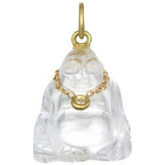 Faye Kim 18K Gold, Diamond and Crystal Buddha Necklace