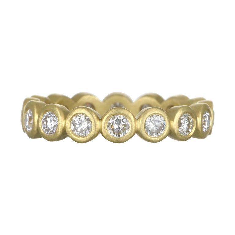 Faye Kim 18 Karat Gold Diamond Eternity Band For Sale