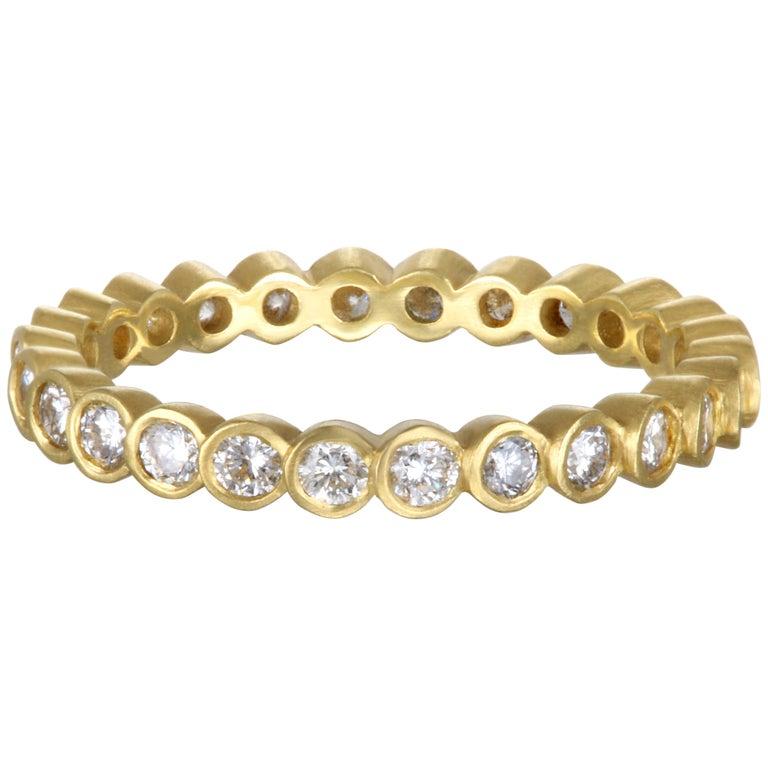 Faye Kim 18 Karat Gold Diamond Eternity Band Ring For Sale