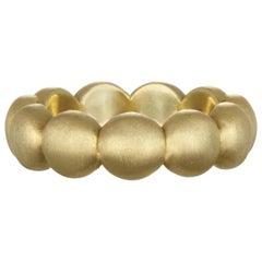 Faye Kim 18 Karat Gold Granulation Bead Band Ring