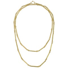 Faye Kim 18 Karat Gold Handmade Fob Chain