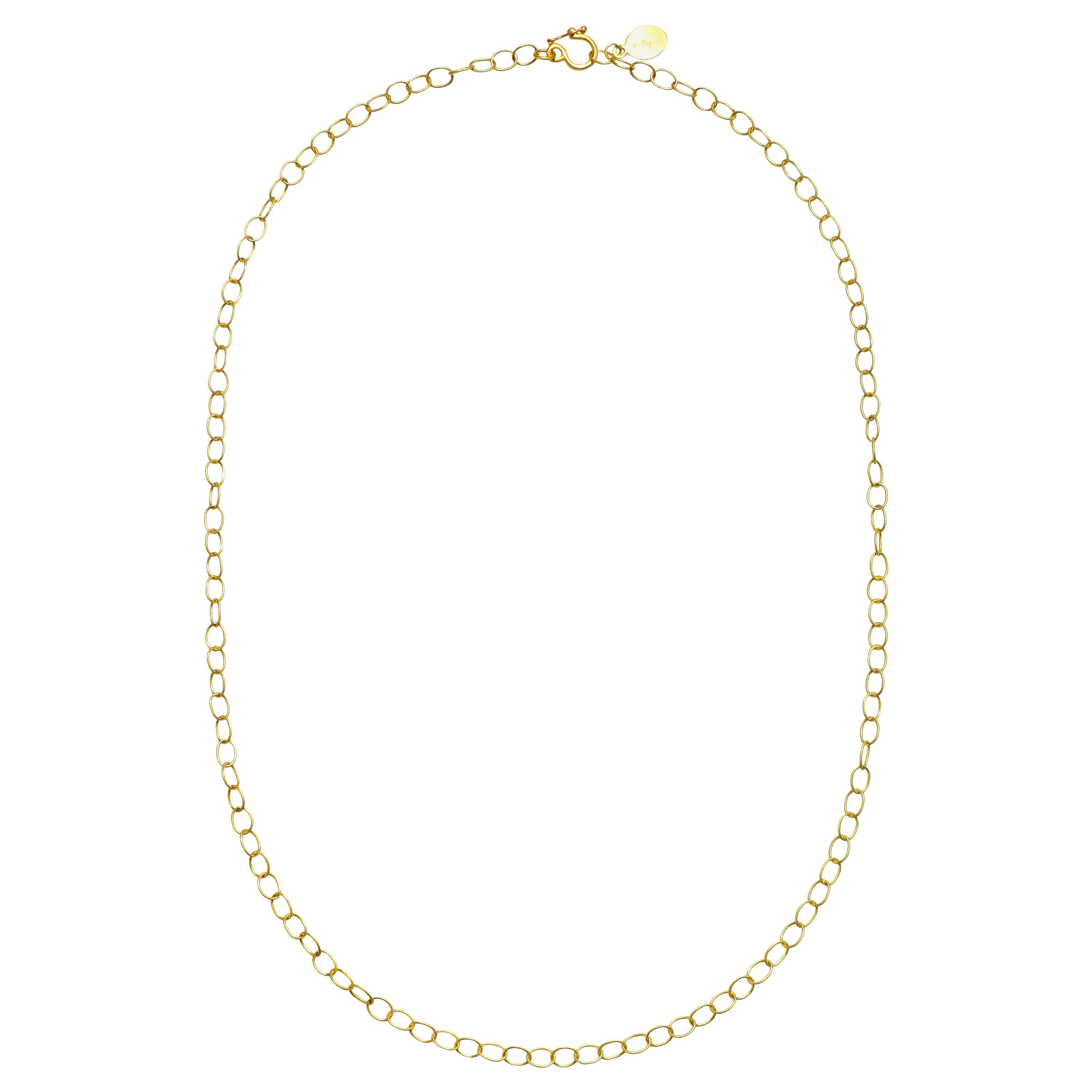 Faye Kim 18 Karat Gold Handmade Medium Oval Link Chain
