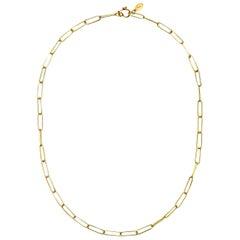 Faye Kim 18 Karat Gold Handmade Paperclip Chain