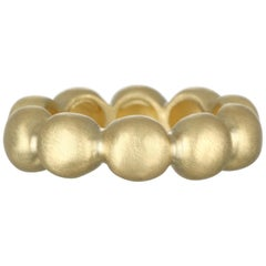 Faye Kim 18 Karat Gold Large Bubble Ring