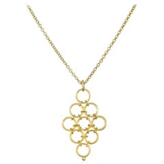 Faye Kim 18 Karat Gold Mesh Pendant Necklace