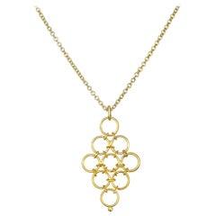 Faye Kim 18 Karat Gold Mesh Pendant Necklace