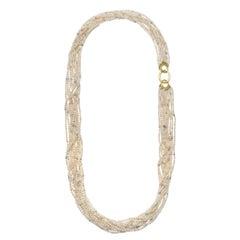 Faye Kim 18 Karat Gold Multi-Strand Akoya Keshi Pearl Necklace