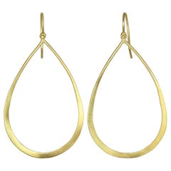 Faye Kim 18 Karat Gold Open Teardrop Earrings