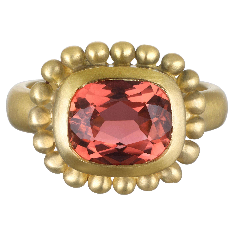Faye Kim 18 Karat Gold Pink Tourmaline Ring