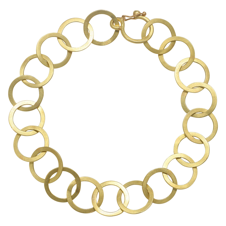 Faye Kim 18 Karat Gold Round Chain Link Bracelet